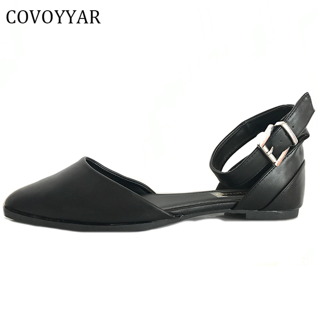 71fdee4f36e 2017 Women Shoes Casual D Orasy Flats Pointed Toe Plain Black Ankle Strap  Ballet Flat