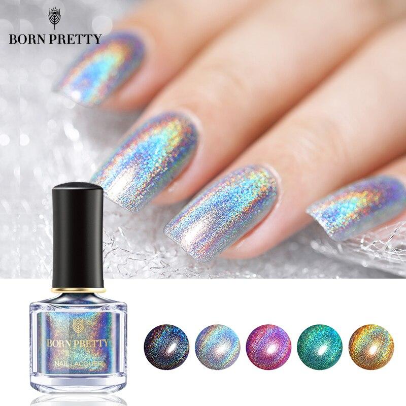 BORN PRETTY Deluxe Holographic Nail Polish 6ml Laser Glitter Top ...