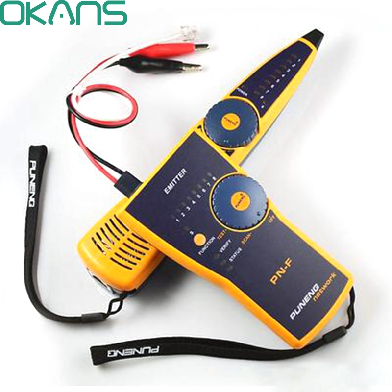 PN-F Network Monitoring Cable Tester Wire Fault Locator RJ45-RJ11 Cable Checker Line Adapter Tester