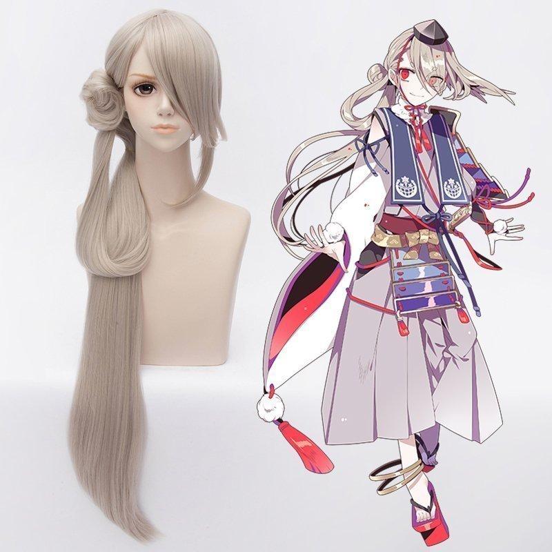 Anime Touken Ranbu en ligne Imanotsurugi Cosplay perruque Halloween fête scène jouer court lumière Lotus racine gris cheveux