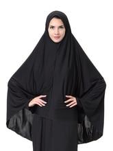 Black Face Cover Abaya Islamic Khimar Clothes Headscarf Robe Kimono  Instant Long Hijab Arab Worship Prayer Garment