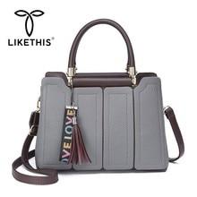цены LIKETHIS Women Bucket Bag Shoulder Bag Tote Female Crossbody Messenger Bags Design Luxury Handbag 2019 New Fashion Retro Tassel