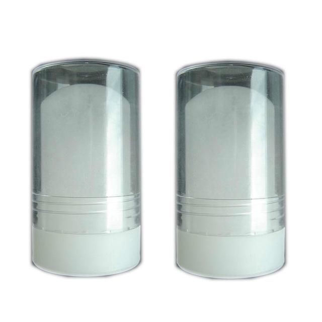 60g 2pcs Natural Crystal Deodorant Alum Stick Body Odor Remover Antiperspirant Potassium Alum Stone Stick Twist Top After Shave