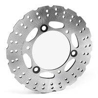 Areyourshop Motorcycle Rear Brake Disc Rotor 220mm 6 Holes For Kawasaki EX250/300 ER250/300 2013 2017 Stainless Steel