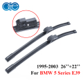 "Wiper blade serve para bmw série 5 e39 (1995-2003) 1 conjunto de 26 ""+ 22"", 1995 1996 1997 1998 1999 2000 2001 2002 2003 Windscreen"