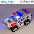 Nova chegada, Omni-direcional roda Incandescência Piscando Musical Crianças Brinquedos carro da polícia Elétrica caminhão de Direção Automática