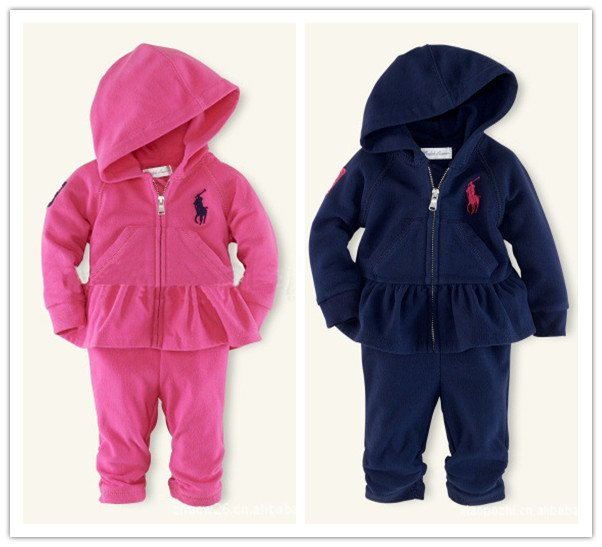 Free Shipping Brand Baby Girls Clothes Good Quality Hoodies Pants