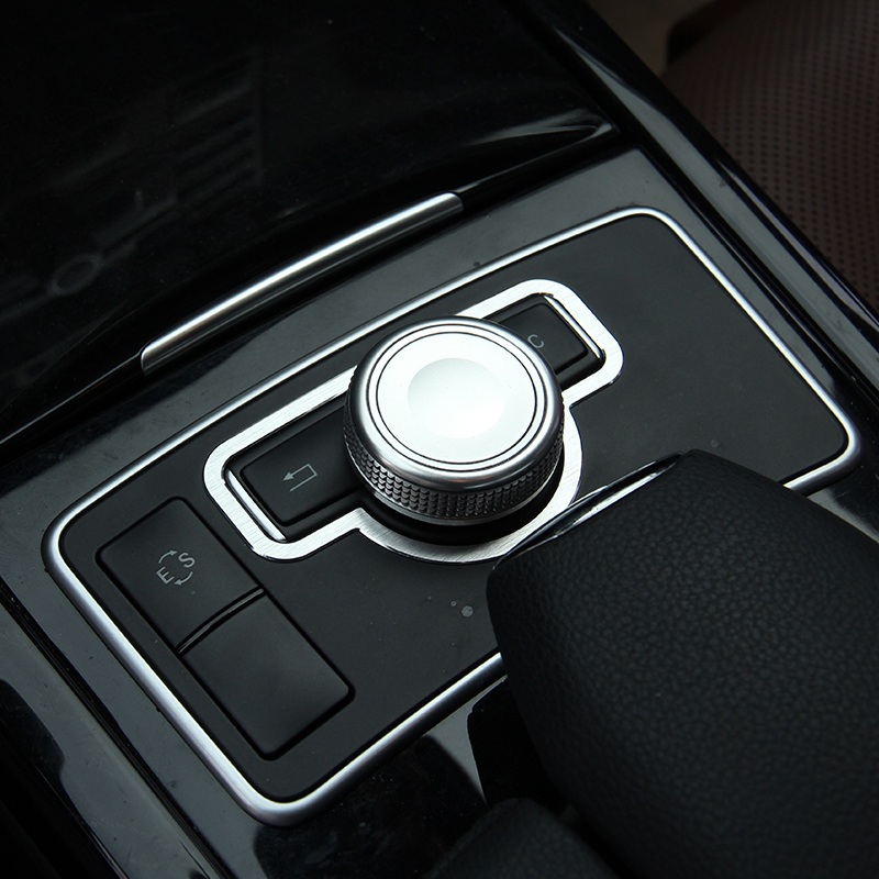 Buy alumium alloy console switch cover for Mercedes benz chrome accessories