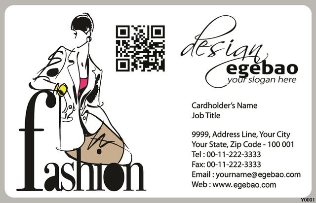 Y0041 Fashion Lady Clothes Business Card Translucent Plastic Card