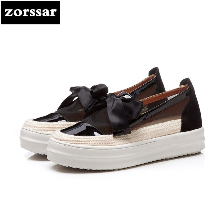 {Zorssar} fashion bow-knot summer womens shoes casual flat shoes high quality Women sneakers platform Casual Flats Loafers shoes summer sneakers fashion shoes woman flats casual mesh flat shoes designer female loafers shoes for women zapatillas mujer
