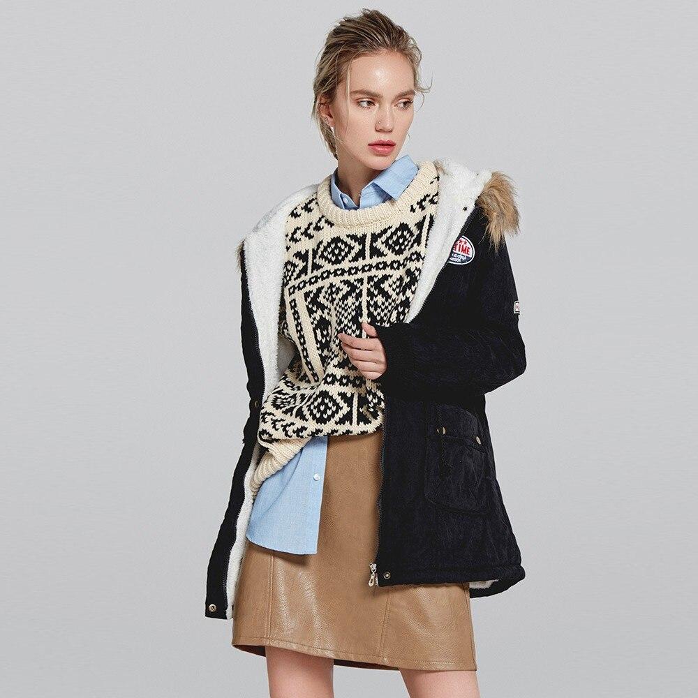 Winter Parka 2018 Womens Warm Long Coat Fur Collar Hooded Jacket Slim Winter Parka Outwear Coats winter coat women