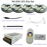 5M 10M 15M 20M 5050 RGB RGBW RGBWW LED Strip Set With 2 4G Touch Screen