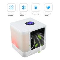 2018 USB Mini Portable Air Conditioner Humidifier Purifier 7 Colors Light Desktop Air Cooling Fan Air Cooler Fan for Office Home