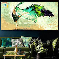 50 100 Large Oil Painting By Numbers Painting Calligraphy Coloring By Number Abstract Acrylic Painting Angel