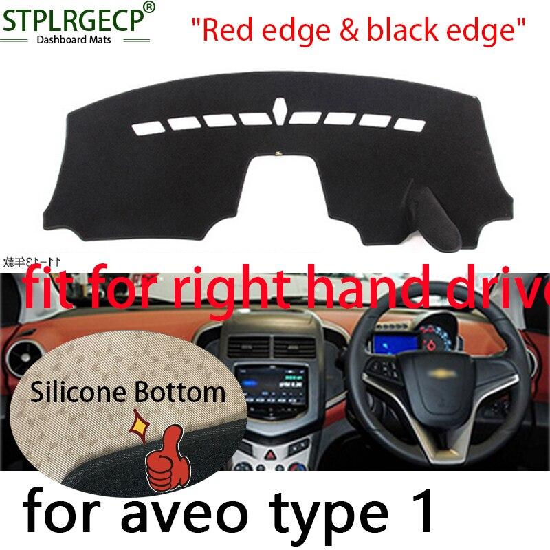 Двухслойный коврик для приборной панели с правым приводом, защита от солнца, покрытие для приборной панели, ковровое покрытие для Chevrolet aveo