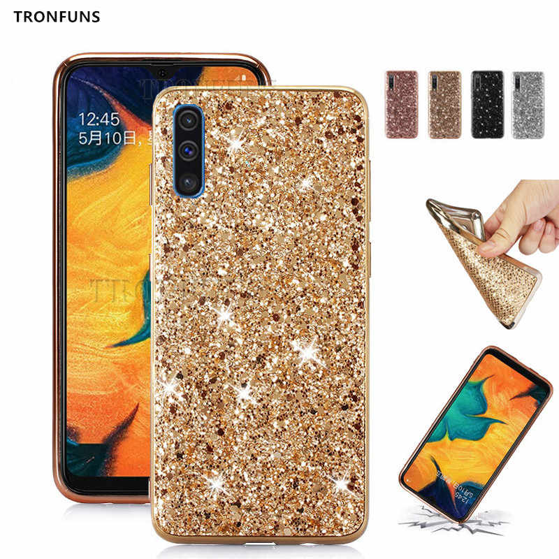 Glitter Case For Samsung Galaxy A30 A50 A70 S10 S10e S9 S8 Note 9 8 A7 A9 A6 A8 J8 J6 J4 Plus 2018 J7 Neo J3 2017 J2 Grand Prime