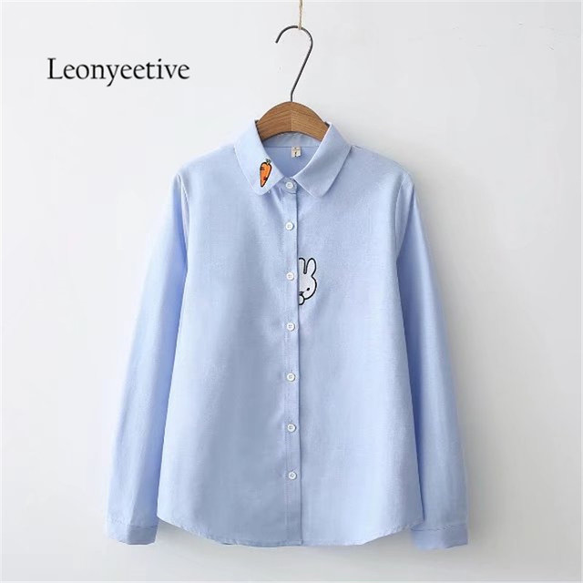 leonyeetive New 2017 Autumn Winter  Women thick Shirt Cotton rabbit Blouses Style Clothing  Full Sleeve Ladies Plaid Shirts