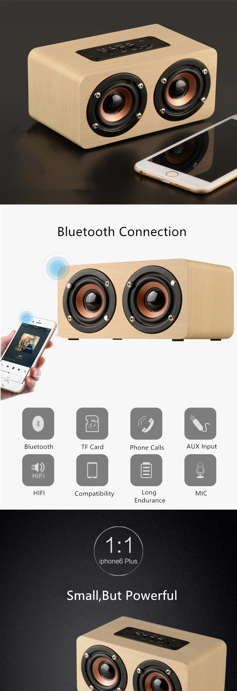 Wood Bluetooth Speaker (2)