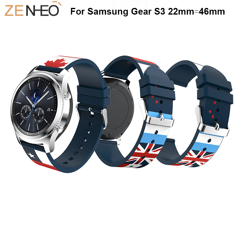 Watchbands silicone Strap for Samsung Galaxy Watch 22mm watch Band Replace For Samsung Gear S3 straps bracelet smart accessory