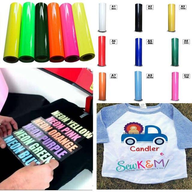 0.5x5m Premium T Shirt Garment Vinyl Flex Heat Press Transfer Textile Film many colors to choose