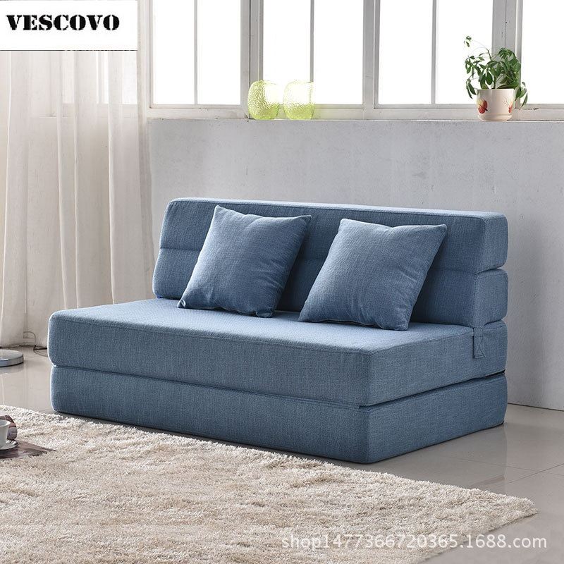 Single Sofa Set Designs: Modern Design Floor Double Sofa Bed Furniture Living Room