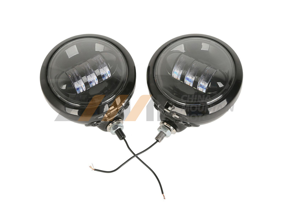 2pcs 4.5 LED Auxiliary Daymaker Fog Passing Light & Housing Bucket case for Harley