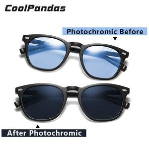 Image 3 - Fashion Intelligent Photochromic Sunglasses Women Polarized Driving Sun glasses Men gafas de sol mujer lunette de soleil femme