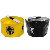 1pcs Golf Power Impact Swing Aid Practice Training Smash Hit Strike Bag Trainer Exercise Package Multi