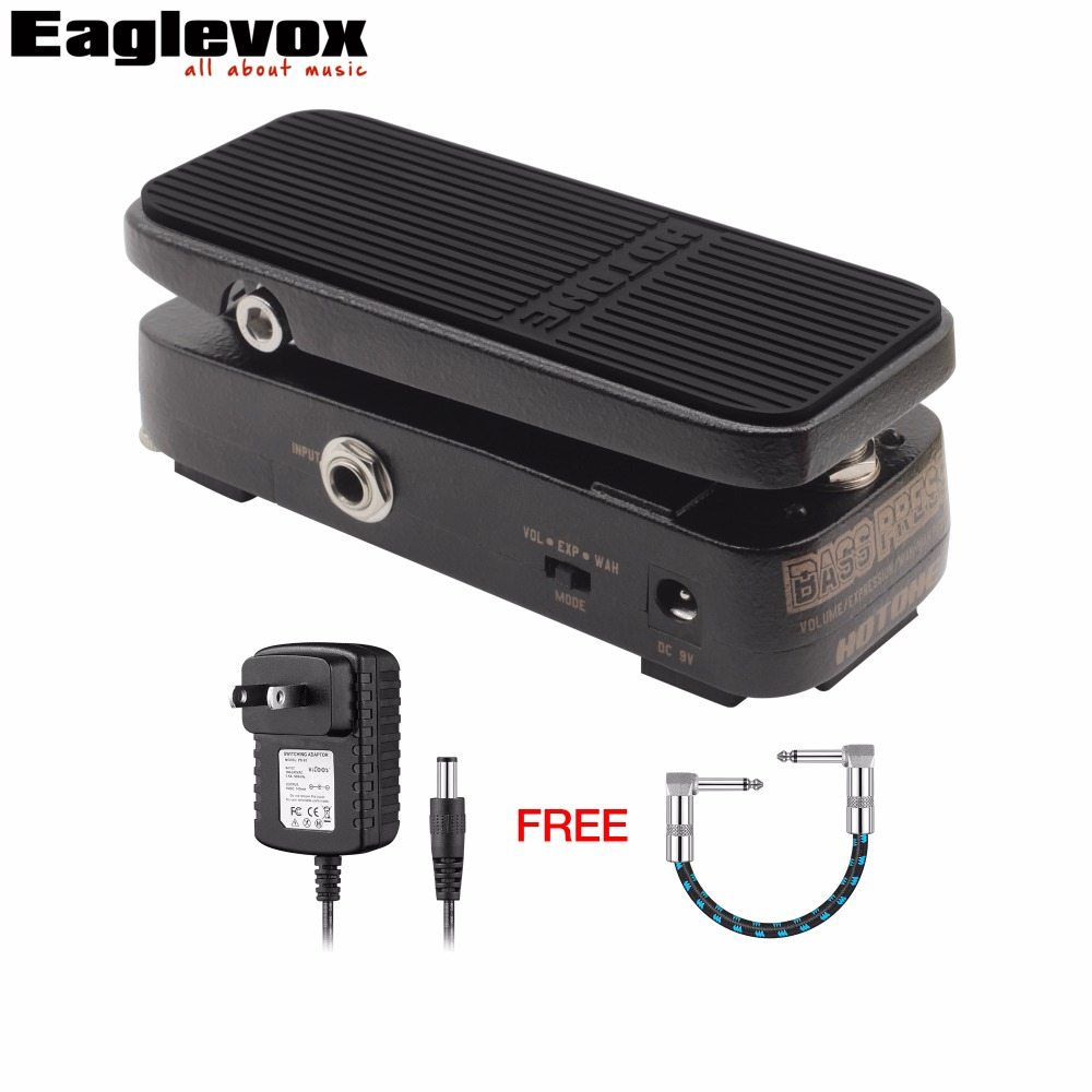 Hotone Bass Press Volume/Expression/Wah-Wah Pedal Electric Guitar Effect Pedal with Free Power Adapter and 15cm Cable vox wah v847 a
