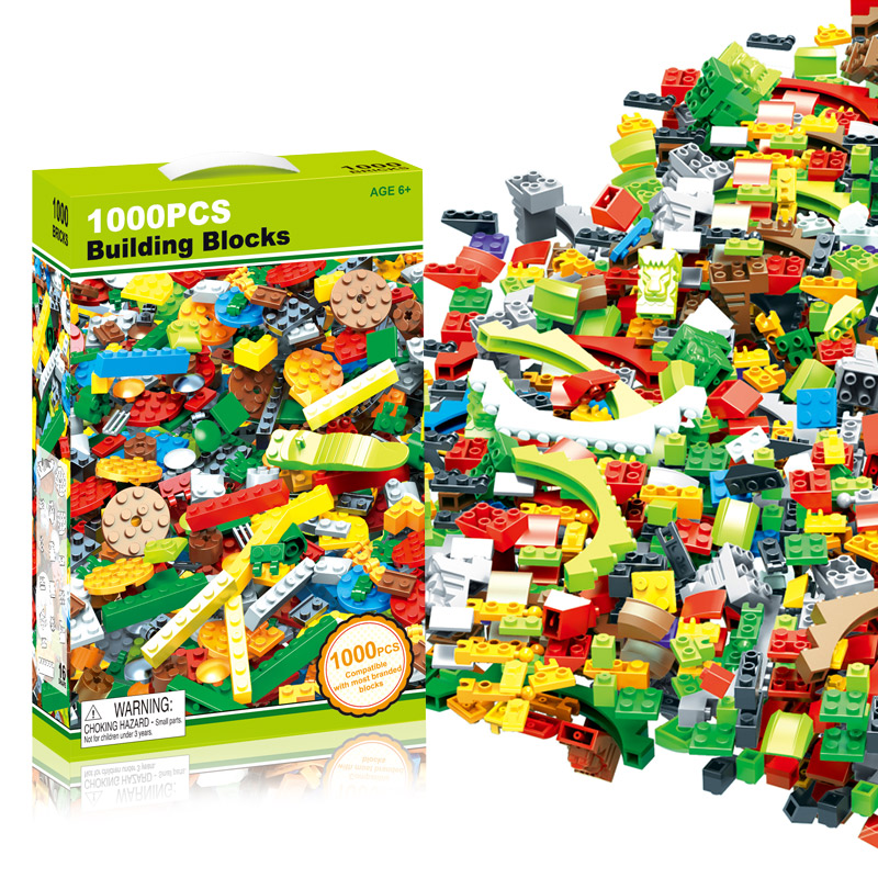 Creative 1000 PCS Building Blocks DIY Bricks Toys For Child Educational Block Bulk Compatible With Classic Brand 1000pcs bulk bricks educational children toy compatible with major brand blocks 10 colors diy building blocks creative bricks