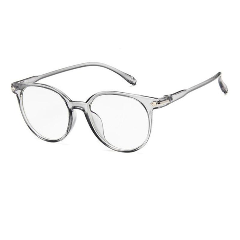 64875fdf72 Vintage Oversize Gray Transparent Eyeglass Frames Full Rim Glasses  Spectacles come with clear lenses myopia Rx able-in Eyewear Frames from  Apparel ...