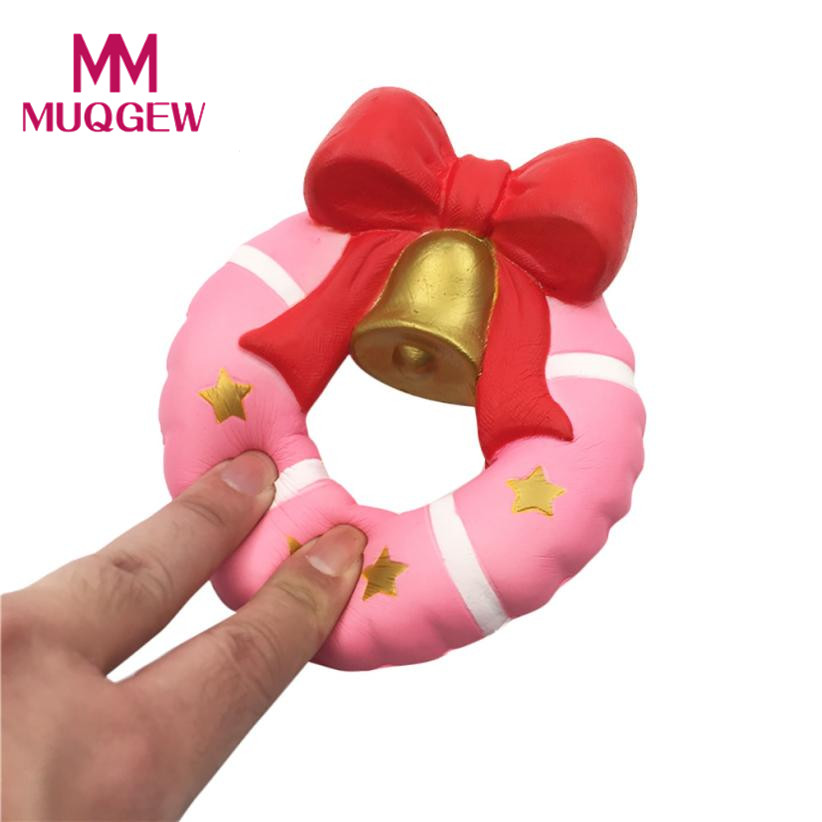 Dropshipping Kawaii Exquisite Fun Simulation Doughnut Bell Scented Squishy toys slow rising Charm Xmas Toy Jouet Enfant #JY