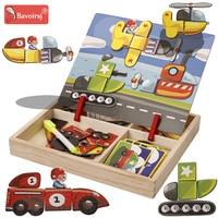 Tráfego cedo educacional bebê montessori brinquedos de madeira enigma cognição aprendizagem crianças brinquedo waldorf brinquedos hobbies t0097|  -