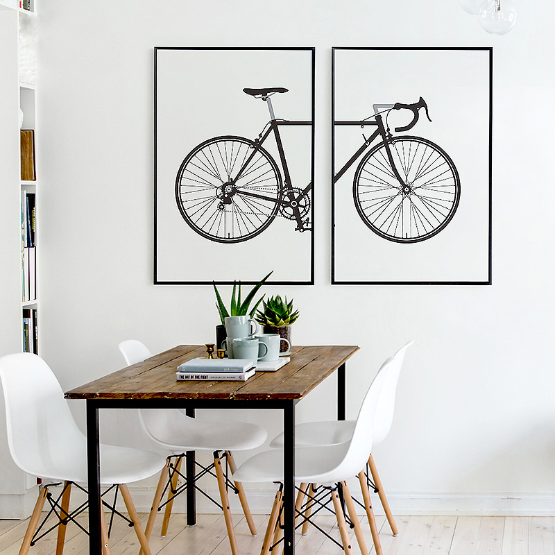 abstract minimalist bike canvas paintings black white With best brand of paint for kitchen cabinets with bicycle wall art canvas