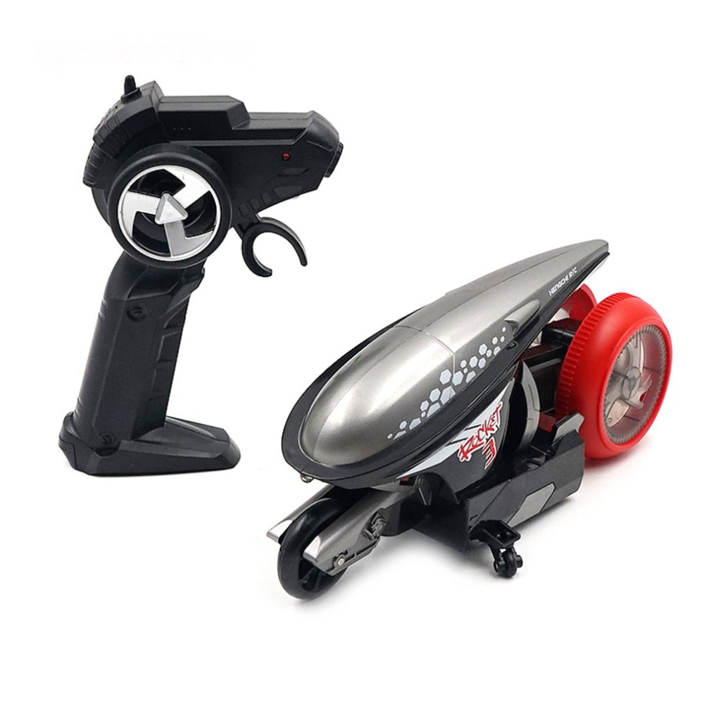 Kids <font><b>RC</b></font> <font><b>Motorcycle</b></font> Toy 1/12 Scale Cool Stunt Remote Control <font><b>Motorcycle</b></font> Deformation High Speed 2.4G Drift Light Concept Flip Car image