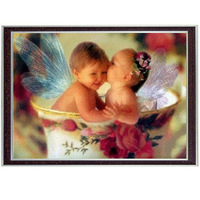 Little angel in the cup,Needlework Kids Cross stitch DMC Stylish for Embroidery kits,Baby Patterns Cross-Stitching,DIY Handmade
