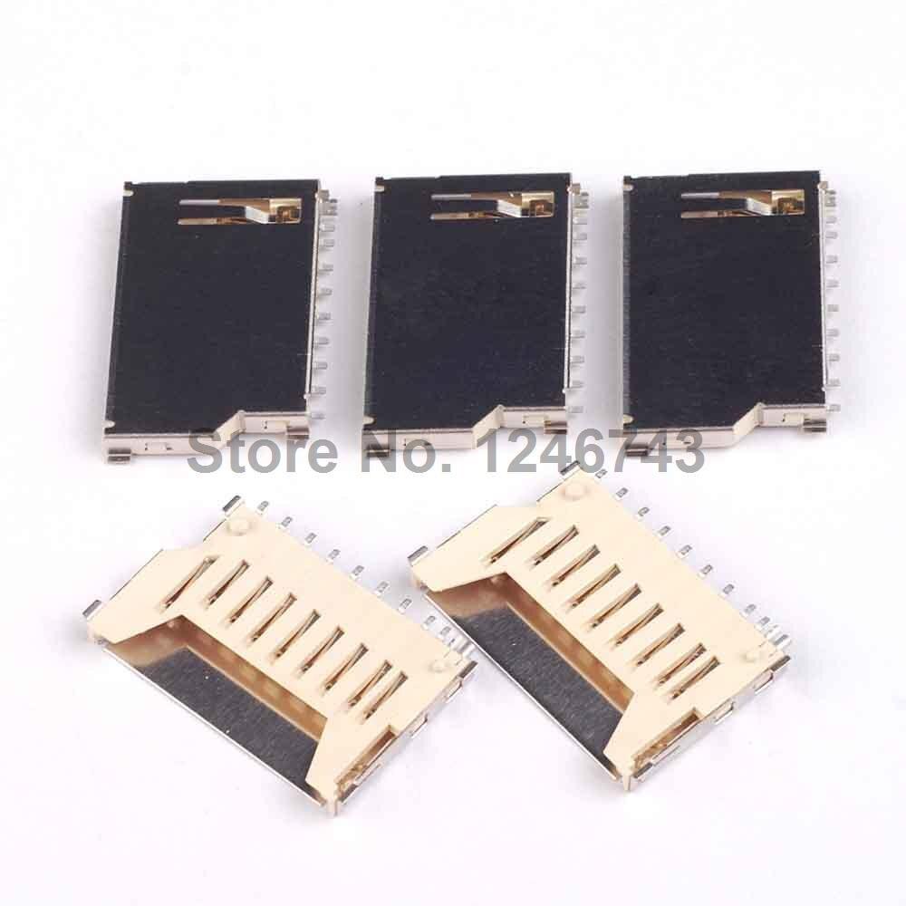 10PCS Not Pop-Up Memory Card Socket MMC/SD Card Slot Card Seats Good Quality and ROHS creative gifts 3d pop up card greeting