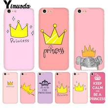 Yinuoda Pink Princess Crown Coque Borsette Cassa Del Telefono per il iPhone 8 7 6 6S Plus X 5 5S SE 5C XS XR Cover11 11pro 11promax(China)