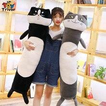 Plush Cat Dog Husky Toy Doll Boyfriend Long Pillow Cushion Stuffed Bolster Gift Home Decor Triver цена