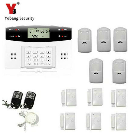 YoBang Security Russian Spain Ltalian Czech Voice Wireless GSM Alarm System Automatic Dial Intruder Wireless Alarm+PIR Alarm .