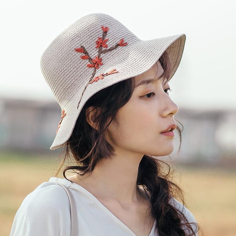 INMAN 2019 Summer Flower Applique Decoration Summer Spring Women All Matched Sun Bucket Hat