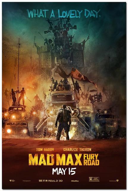 Плакат Гобелен Шелковый Безумный Макс Дорога Ярости вариант 3