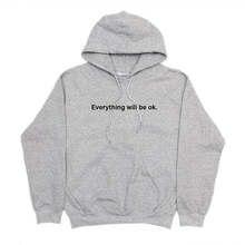 bbe14a34 Все будет ОК hoodie нарядная толстовка с капюшоном флис унисекс  повседневные топы модная толстовка с капюшоном