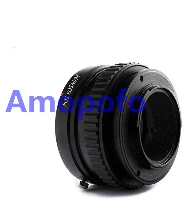 AMOPOFO pour Canon EF objectif de montage pour Canon EF-M adaptateur de montage EOSM mise au point hélicoïdal