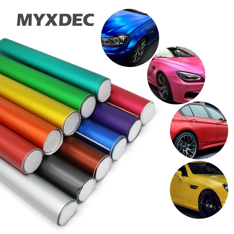 Hot 100*30CM Polymeric PVC Matte Chrome Vinyl Car Wraps Sticker Color Changing Motorcycle Sticker With Air Bubble Car Decoration|stickers cat - title=