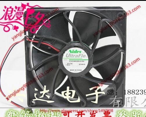 Nidec V12E24BS2B5-01Z02 DC 24V 1.66A, 120x120x38mm  Server Square  Fan cтеппер bs 803 bla b ez
