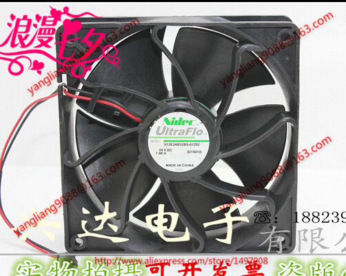 Free Shipping For Nidec V12E24BS2B5-01Z02 DC 24V 1.66A, 120x120x38mm 2-wire Server Square Cooling Fan free shipping 10pcs cs4221 bs