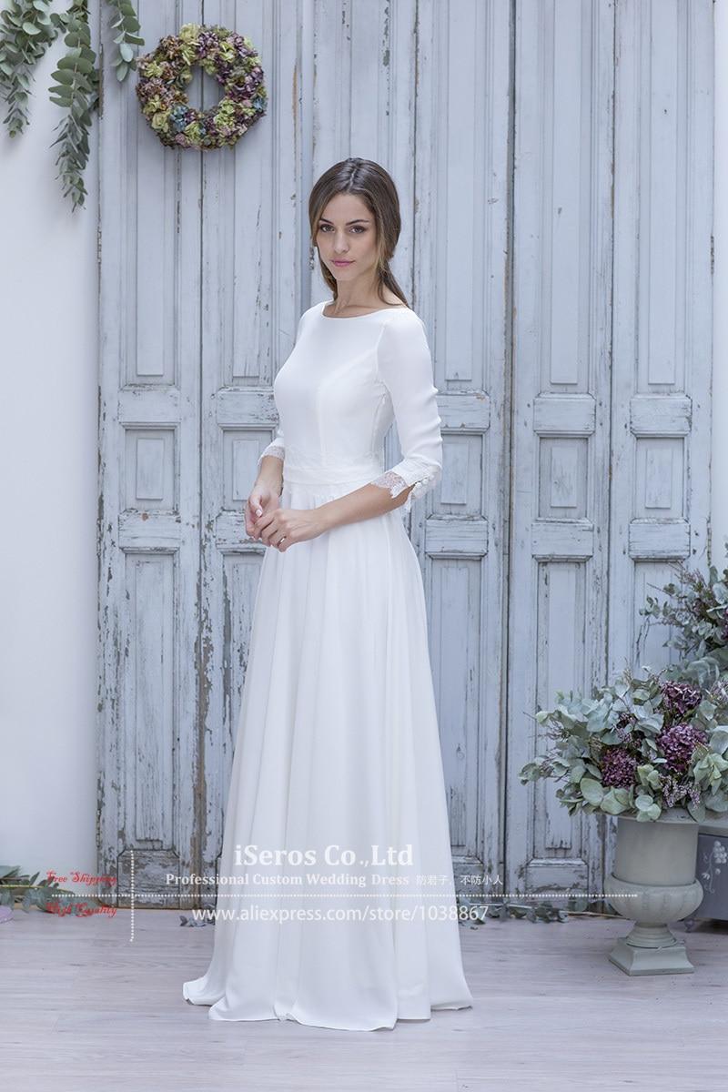 Simple Elegant White Wedding Dress