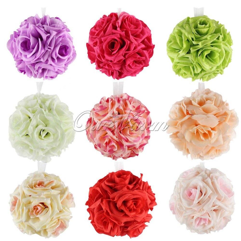 Ourwarm 5pcs Wedding Flowers Rose Balls 15cm Hanging Flower Ball For