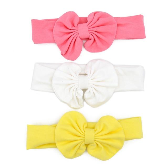 3 Pcs/Set Floral Bows Baby Headband Dot Bowknot Haarband Baby Girl Headbands Cotton Kids Hair Band Girls Hair Accessories 2
